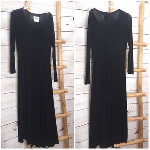 FLAX Long Sleeve Maxi Dress with Flaw